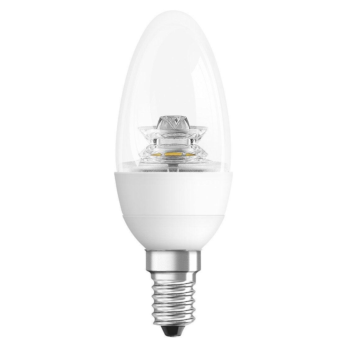 Ampoule Flamme Led 6w Osram E14 Lumi Re Chaude Env 2700k Leroy Merlin