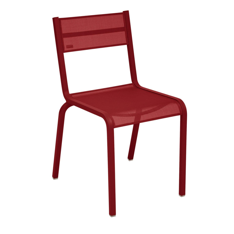 Chaise de jardin en aluminium ol ron piment leroy merlin - Leroy merlin jardin tondeuse villeurbanne ...