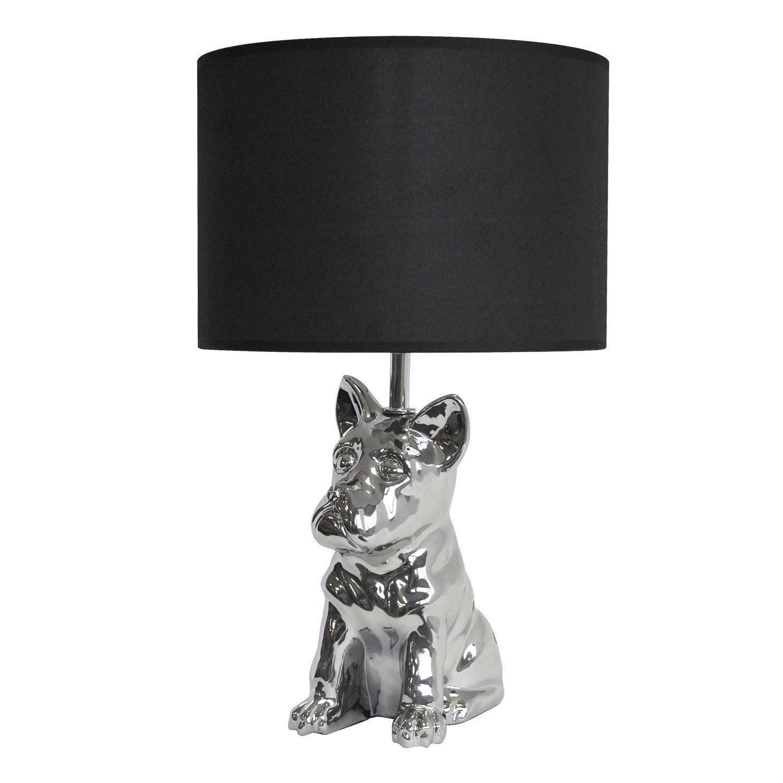 lampe baxter seynave tissu noir 40 w leroy merlin. Black Bedroom Furniture Sets. Home Design Ideas