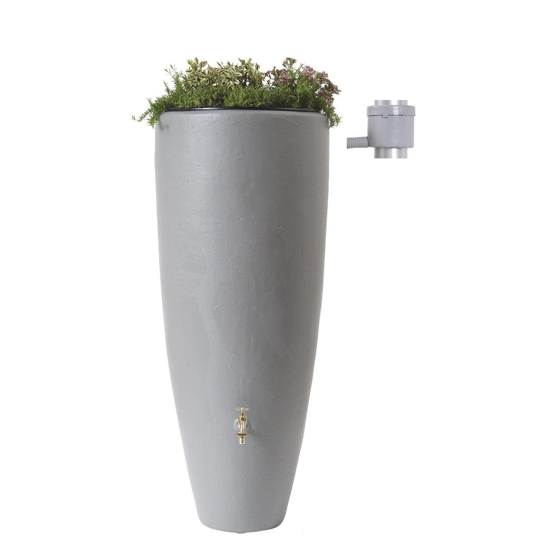 R cup rateur d 39 eau et collecteur a rien garantia cylindrique gris 300 l leroy merlin - Collecteur eau de pluie leroy merlin ...