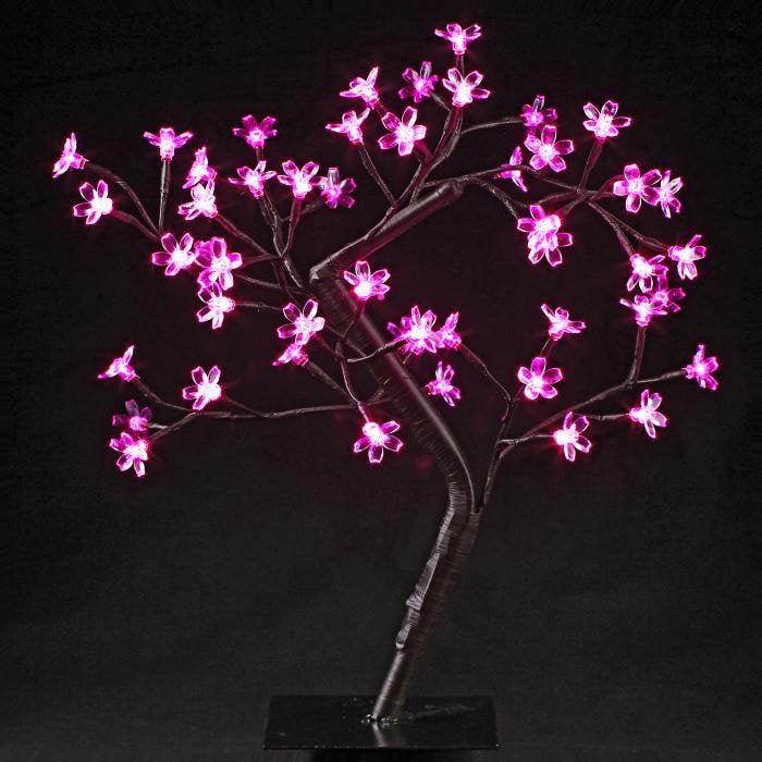 objet lumineux arbre prunus rose 3 w leroy merlin. Black Bedroom Furniture Sets. Home Design Ideas
