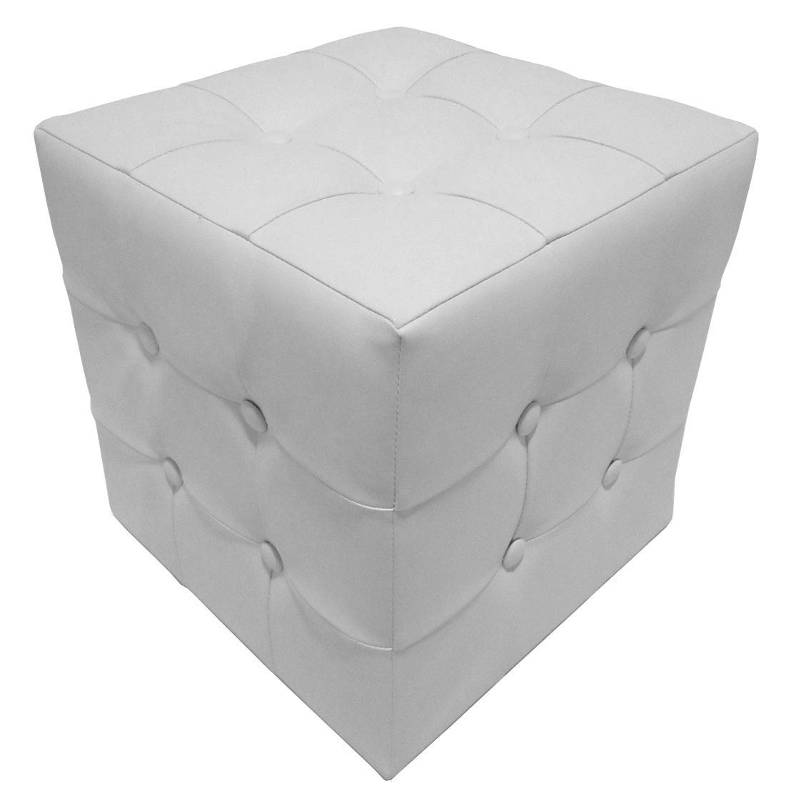 pouf chester blanc x cm leroy merlin. Black Bedroom Furniture Sets. Home Design Ideas