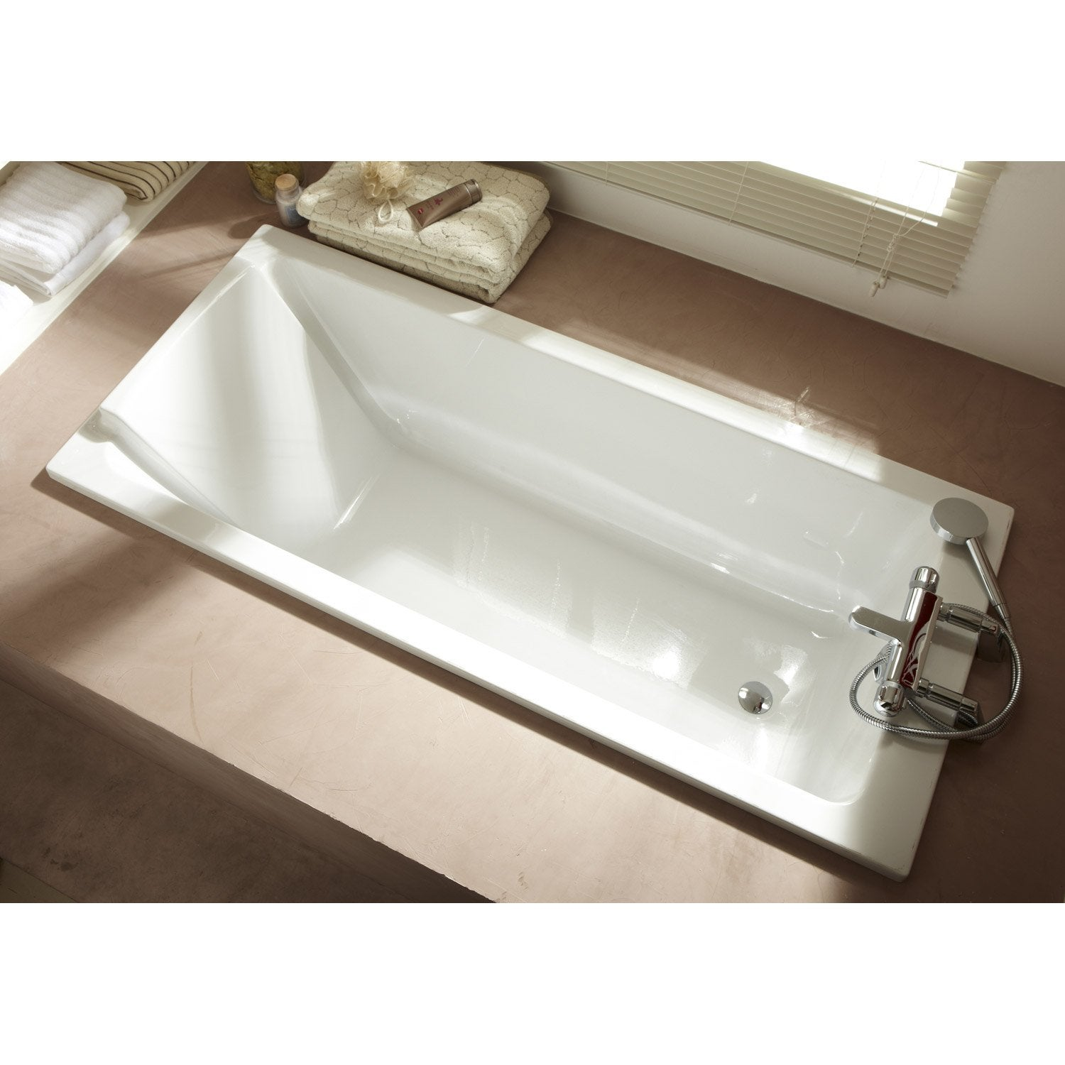 Baignoire rectangulaire cm blanc jacob for Sofa 75 cm tief