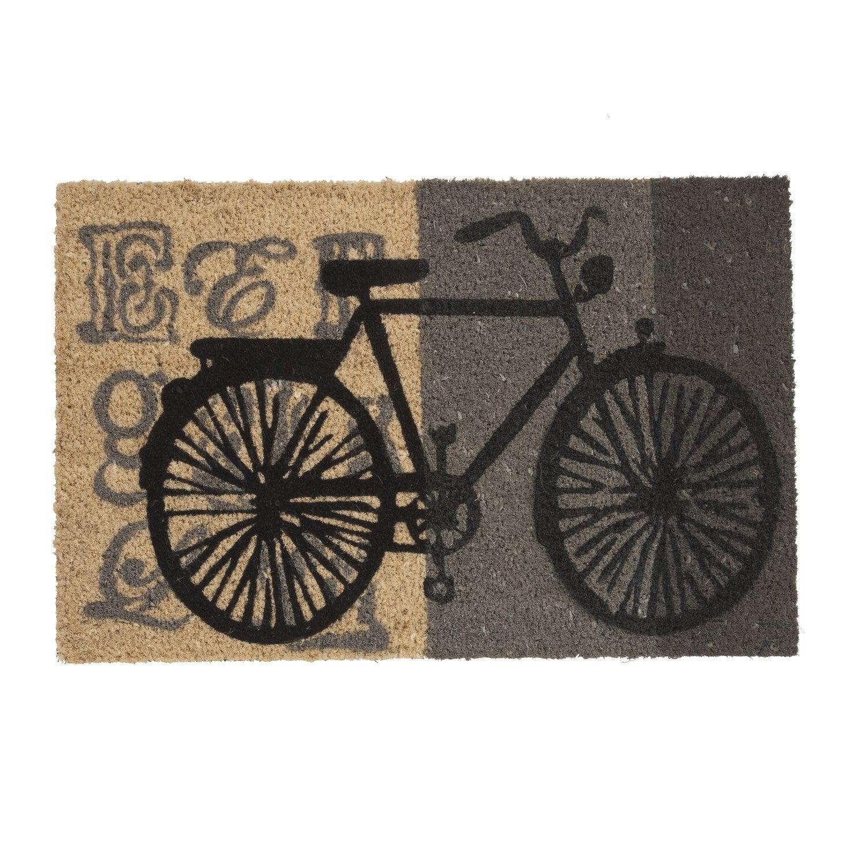 paillasson coco multicolore l 60 x l 40 cm design bike leroy merlin