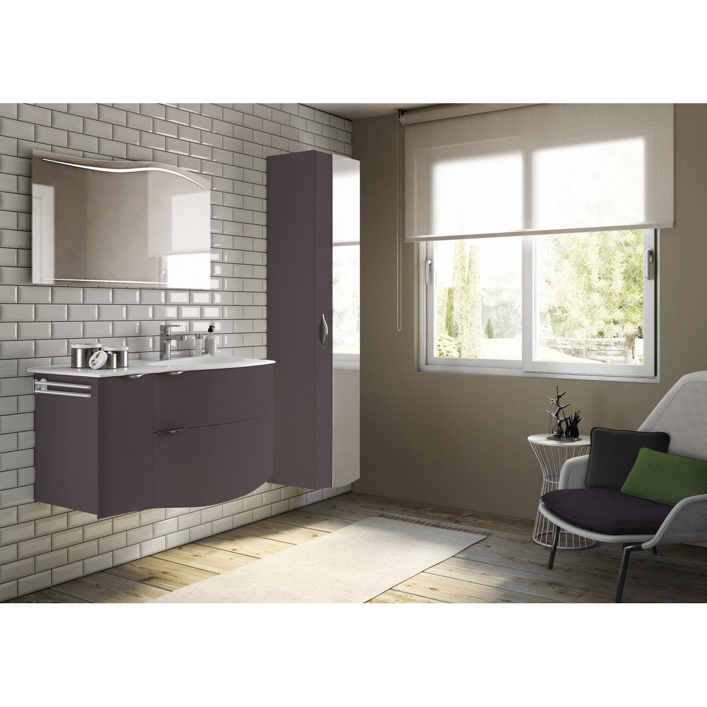 meuble de salle de bains de 100 Ã 119 marron elegance leroy merlin