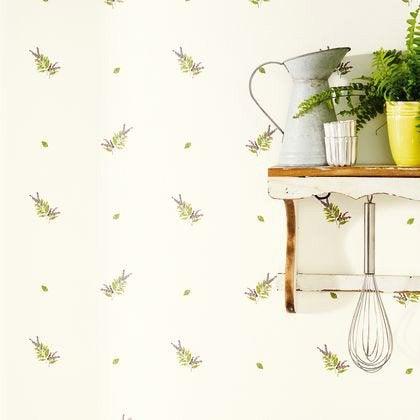 papier peint herbier violet blanc intiss bon app tit leroy merlin. Black Bedroom Furniture Sets. Home Design Ideas