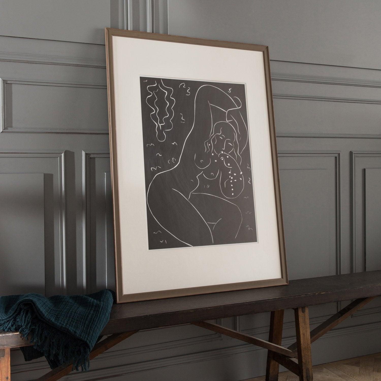 cadre vienne 30 x 40 cm brun taupe n 3 leroy merlin. Black Bedroom Furniture Sets. Home Design Ideas