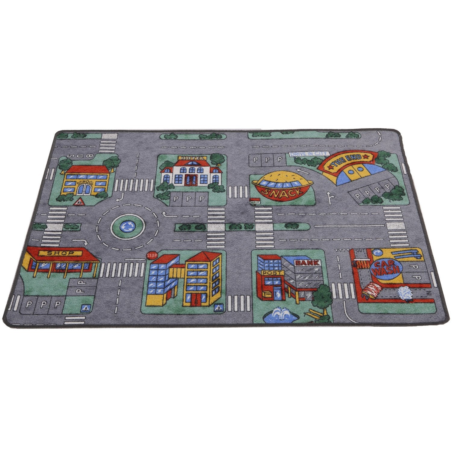 tapis multicolore enfant circuit x cm leroy. Black Bedroom Furniture Sets. Home Design Ideas