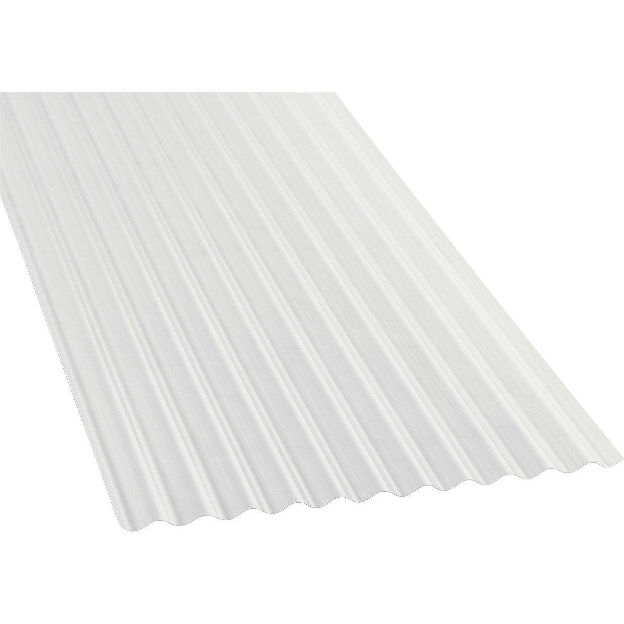 Plaque polycarbonate petites ondes translucide 3 x for Plaque translucide leroy merlin