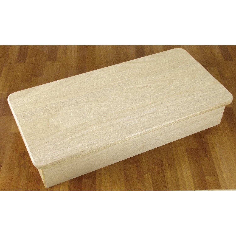Socle pour escalier soft h tre brut leroy merlin for Socle pour poele a bois