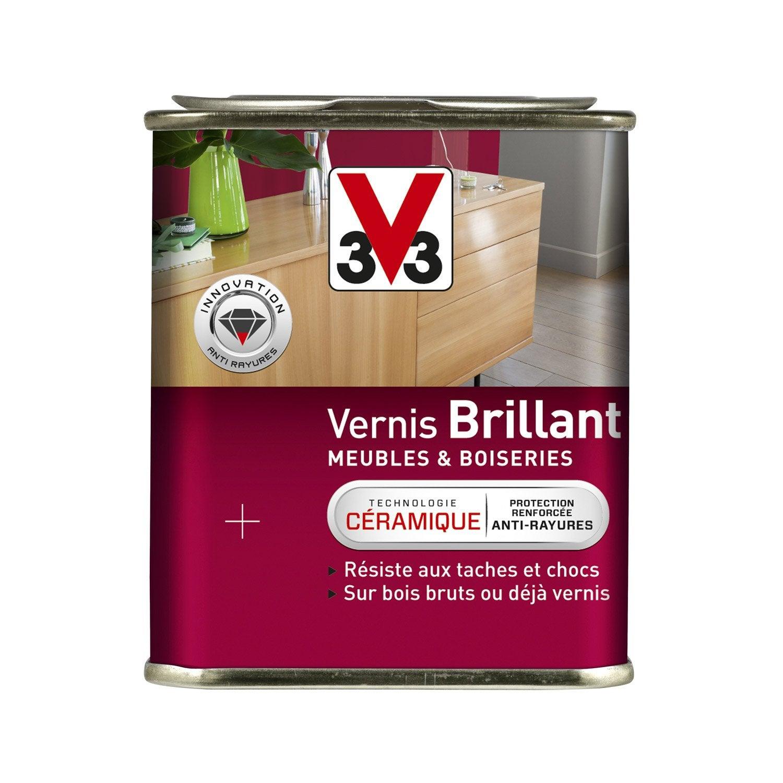 Vernis meuble et objets v33 incolore l leroy merlin - Vernis bois incolore ...