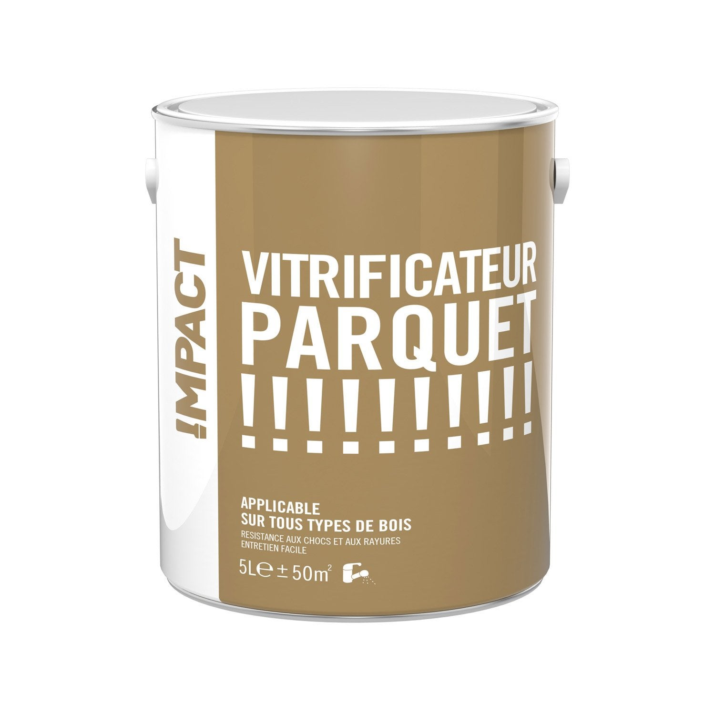 Vitrificateur parquet impact ch ne clair satin 5l leroy merlin - Vitrificateur chene fonce ...