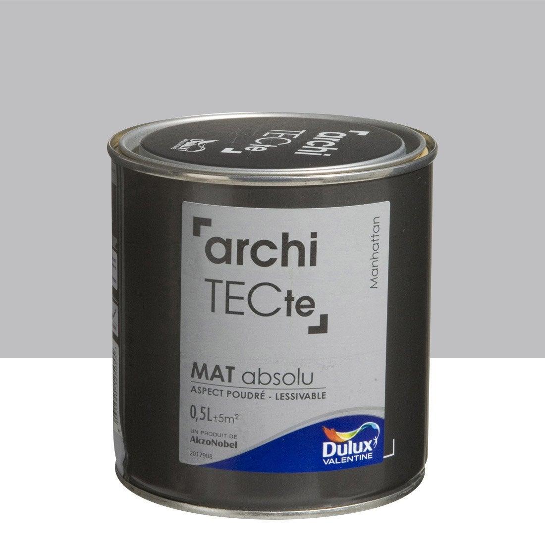 Peinture gris manhattan dulux valentine architecte 0 5 l for Peinture architecte leroy merlin