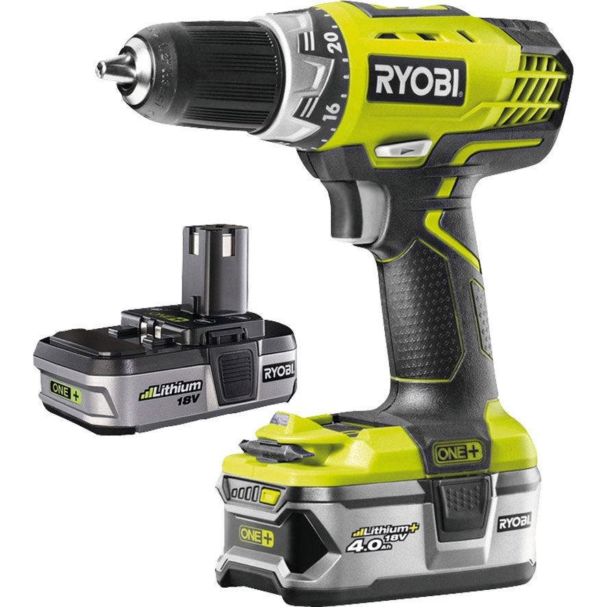 Ryobi one+ + perceusevisseuse 18v + 2 batteries
