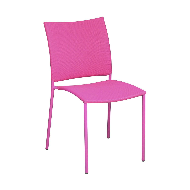 Chaise de jardin en acier globe framboise leroy merlin - Chaise de jardin leroy merlin ...