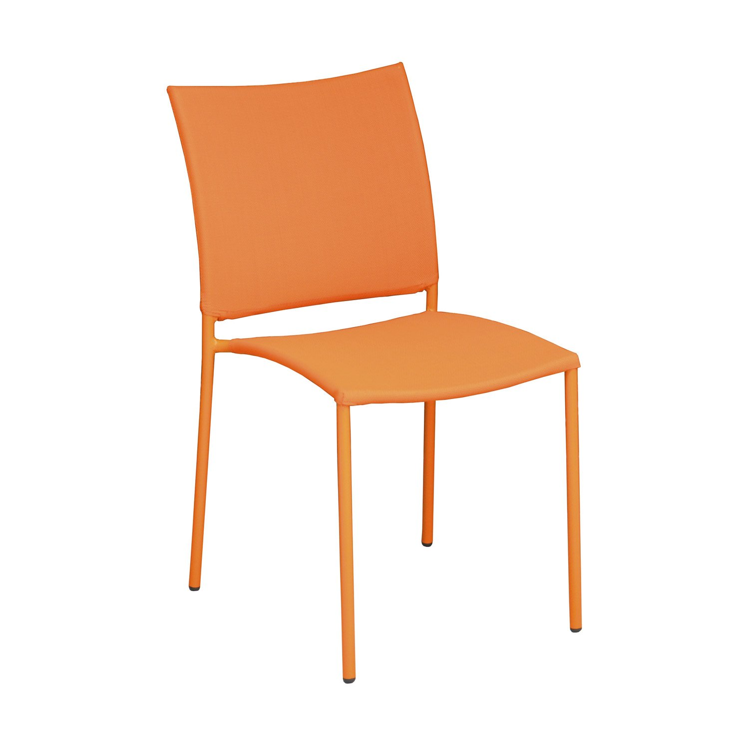Chaise de jardin en acier globe orange leroy merlin for Chaise balancoire jardin