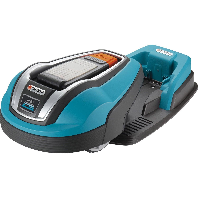 Tondeuse robot sur batterie lithium 18v gardena r80 li 200 euros rembours s leroy merlin - Batterie tondeuse autoportee leroy merlin ...