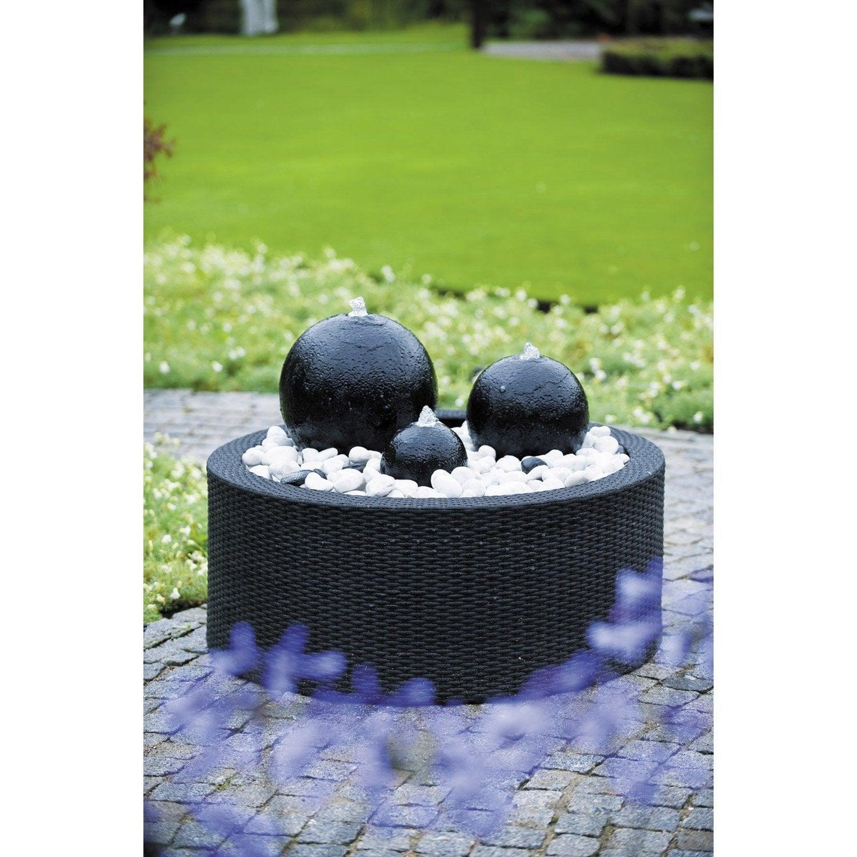 Contour de fontaine de jardin en plastique noir Victoria