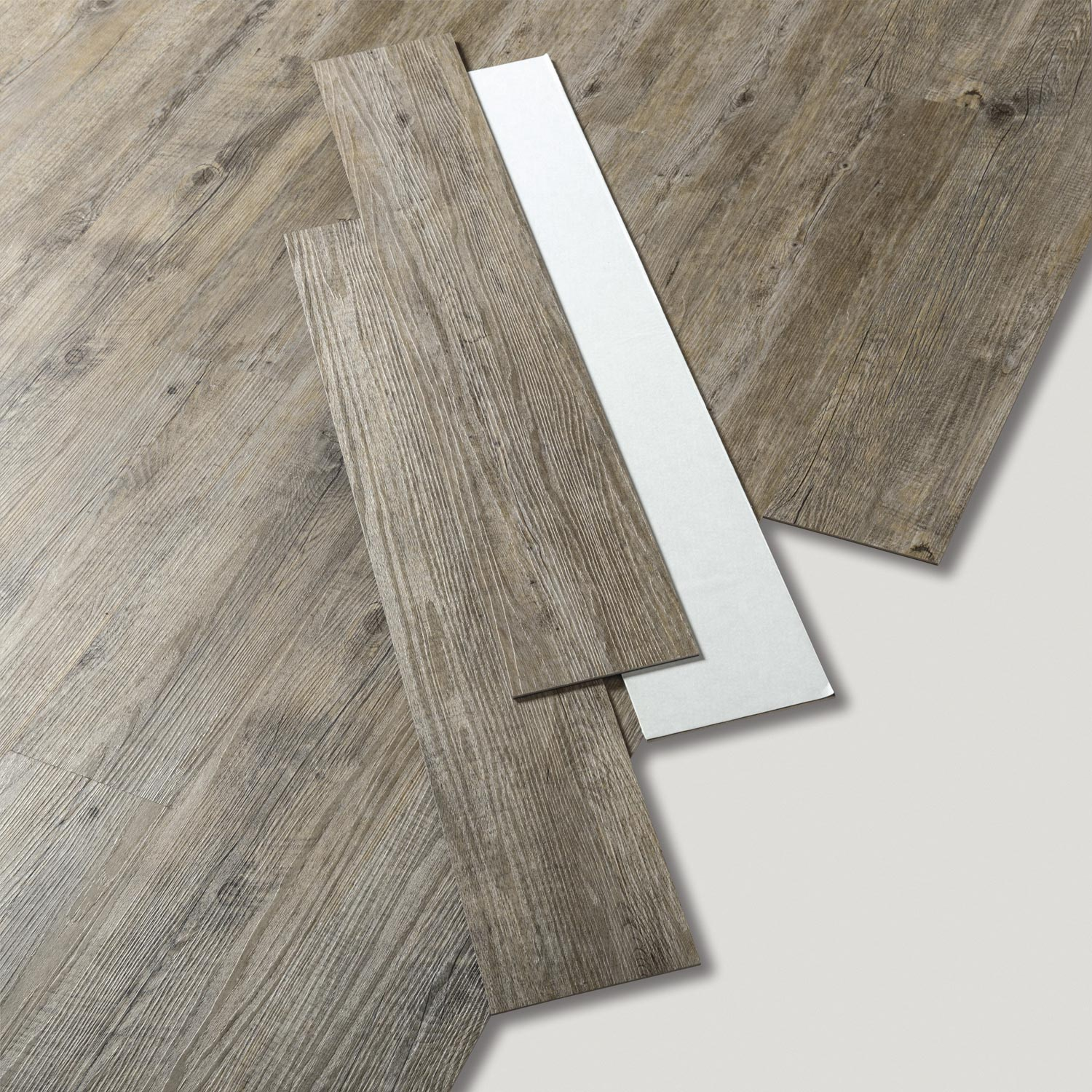 Lame pvc autoplombante gris pecan senso adjust gerflor for Dalles pvc clipsables gerflor