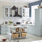Meuble de cuisine bleu DELINIA Ashford