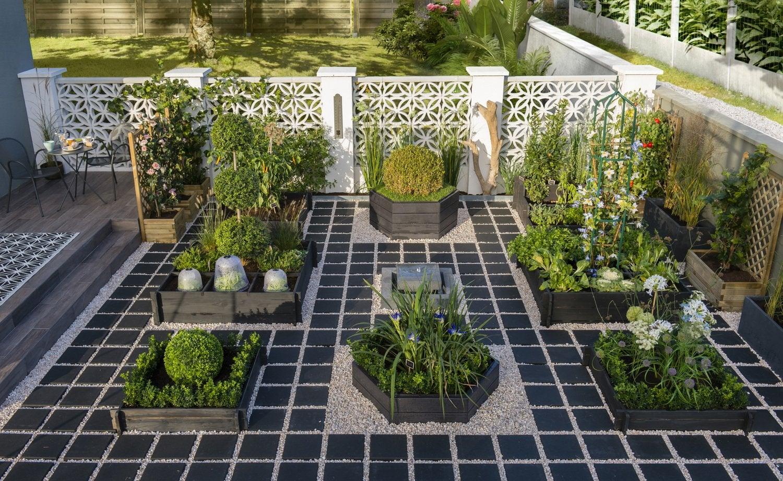 Un potager en escalier au coeur de votre jardin leroy merlin - Leroy merlin jardin potager reims ...