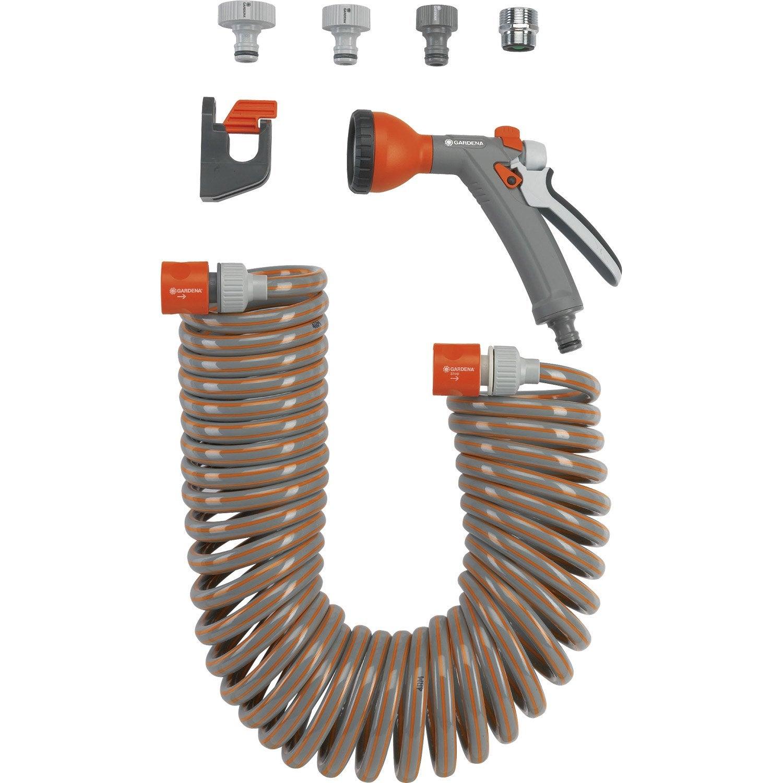 Tuyau d 39 arrosage equip gardena 4647 20 m diam 9 2 mm for Lance haute pression pour tuyau d arrosage leroy merlin