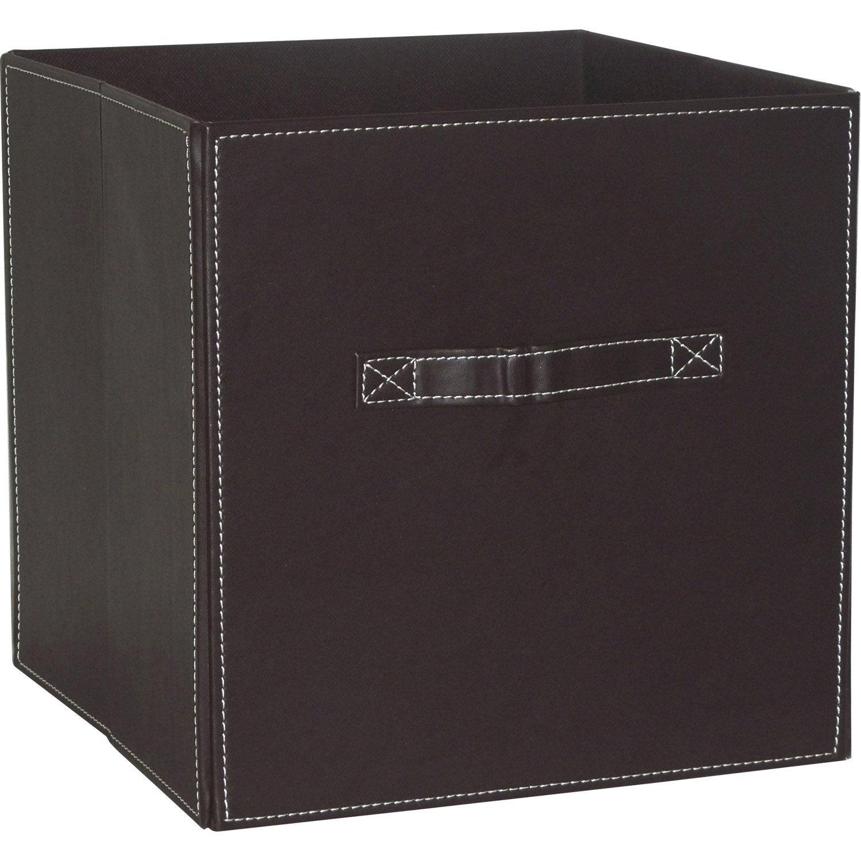 Panier de rangement multikaz chocolat x x cm leroy merlin - Cubes de rangement leroy merlin ...