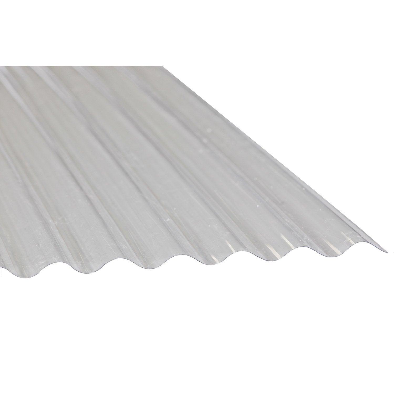 plaque-ondule-pvc-translucide-l-0-9-x-l-1-m Frais De toiture Abri De Jardin Schème