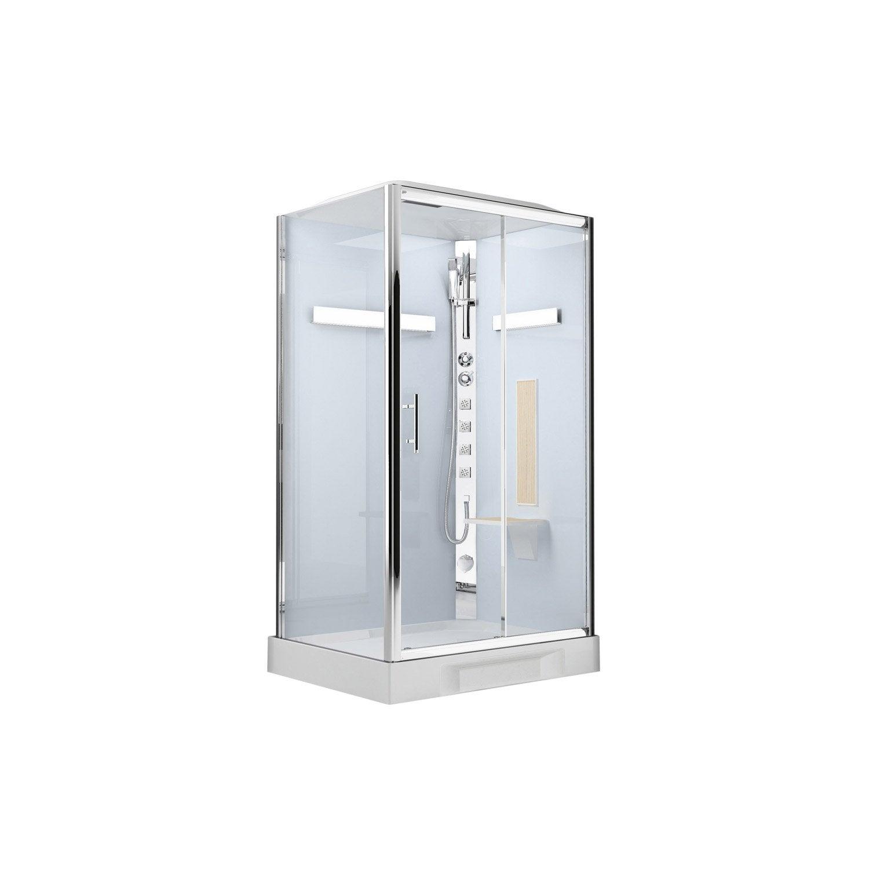 cabine de douche hydromassante hammam ilia ch ne rectangulaire 120x80cm leroy merlin. Black Bedroom Furniture Sets. Home Design Ideas