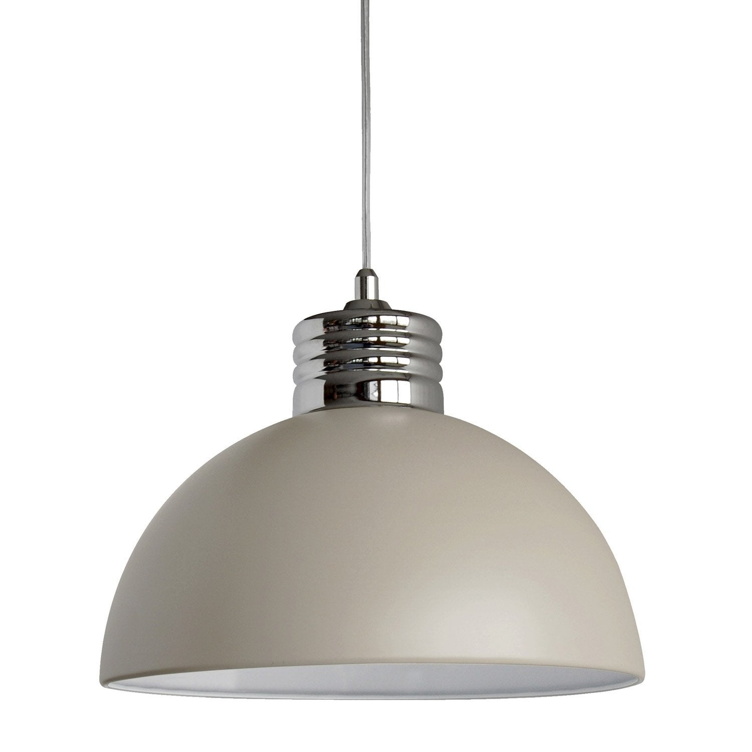 Suspension E27 Design Charlie M Tal Taupe 1 X 40 W Seynave Leroy Merlin