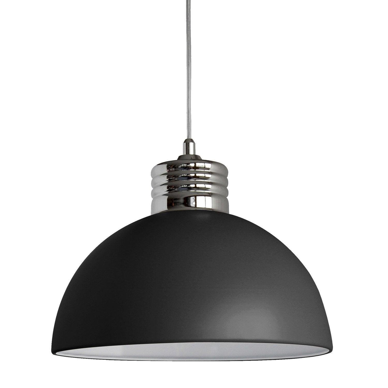 suspension charlie seynave noir 40 watts diam 30 cm leroy merlin. Black Bedroom Furniture Sets. Home Design Ideas