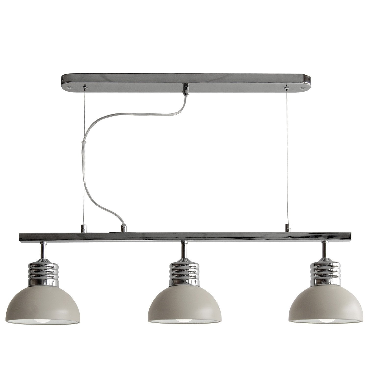 Suspension charlie seynave taupe 3x40 watts diam 80 cm leroy merlin - Suspension new york leroy merlin ...
