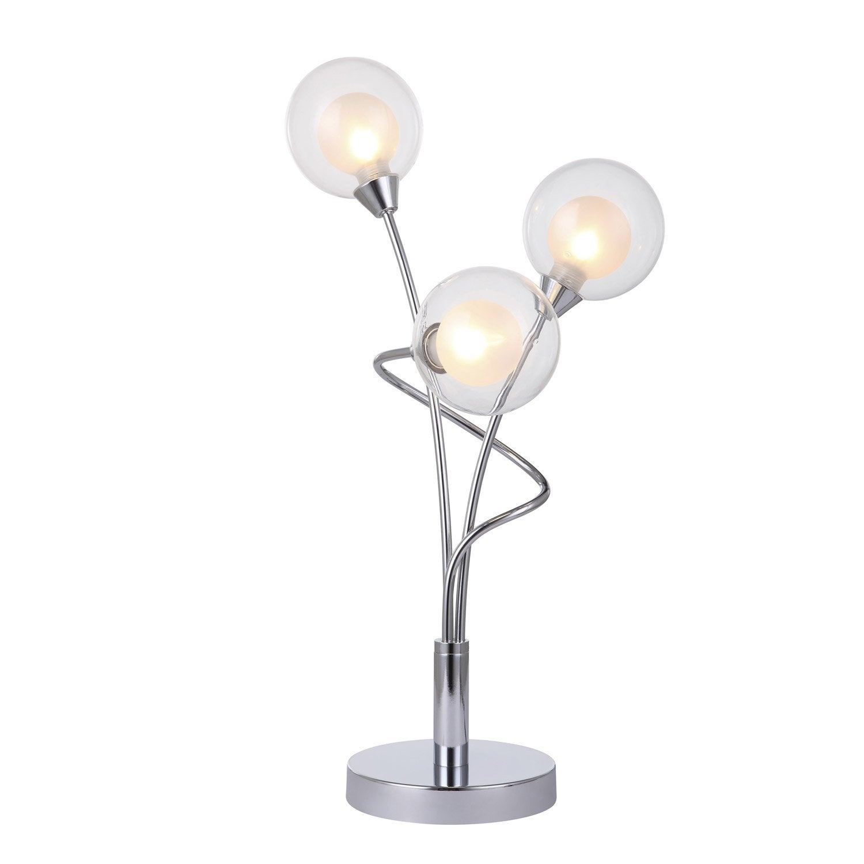 Lampe alt a seynave verre transparent 33 w leroy merlin for Lampe pied en verre