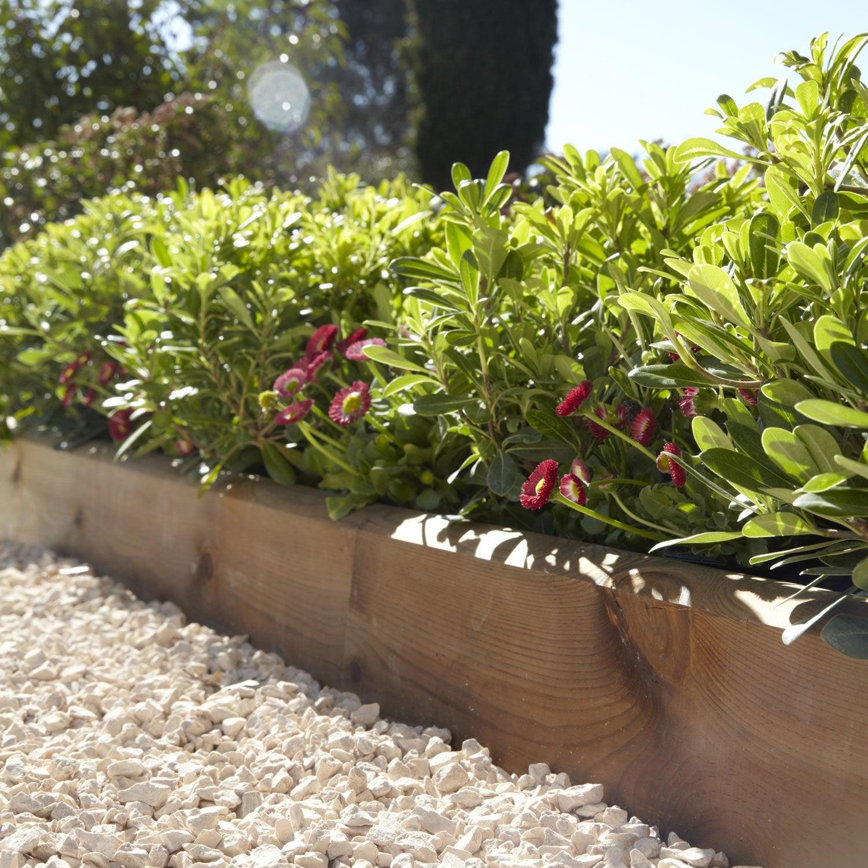 Bordure planter kuhmo bois marron x cm leroy merlin - Leroy merlin jardiniere bois ...