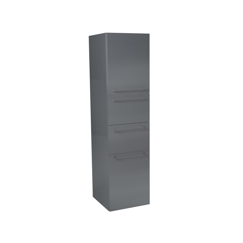 colonne sensea remix gris cm 2 tiroirs 2 portes leroy merlin. Black Bedroom Furniture Sets. Home Design Ideas