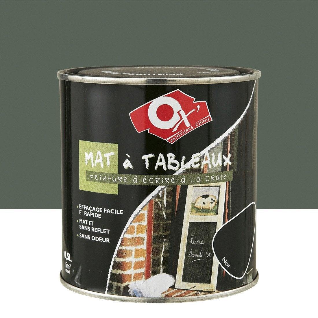 Peinture tableau oxytol ox 39 vert 0 5 l leroy merlin - Peinture tableau noir leroy merlin ...