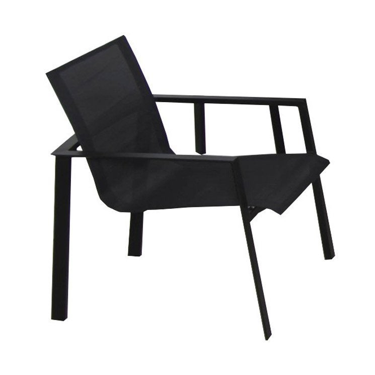 fauteuil de jardin en aluminium miami noir leroy merlin. Black Bedroom Furniture Sets. Home Design Ideas