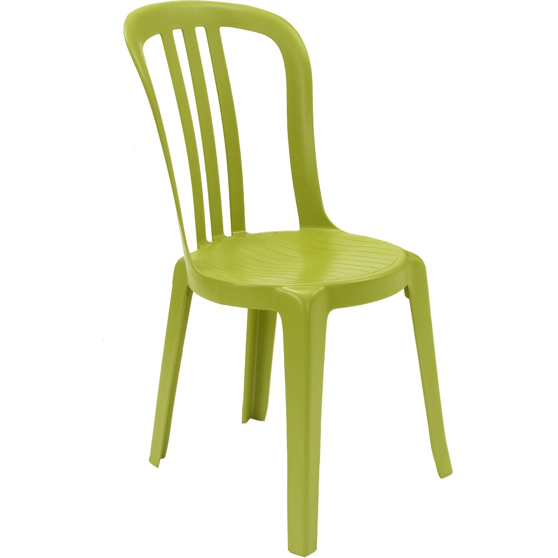Chaise de jardin en r sine miami vert anis leroy merlin - Leroy merlin chaise pliante ...