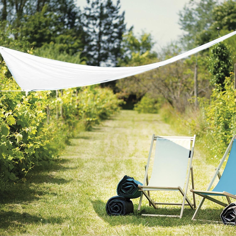 voile d 39 ombrage triangle blanc x cm leroy merlin. Black Bedroom Furniture Sets. Home Design Ideas