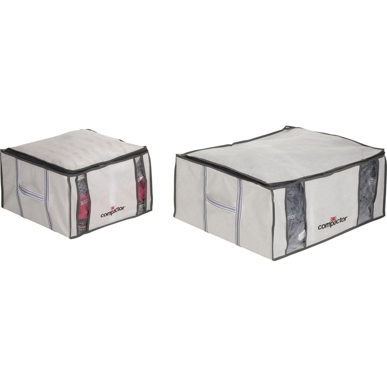 lot de 3 housses de rangement sous vide compactor blanc x x cm leroy merlin. Black Bedroom Furniture Sets. Home Design Ideas