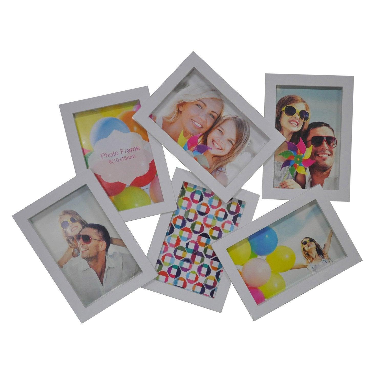 Cadre multivue 6 vues 10 x 15 cm blanc leroy merlin - Cadre peinture leroy merlin ...