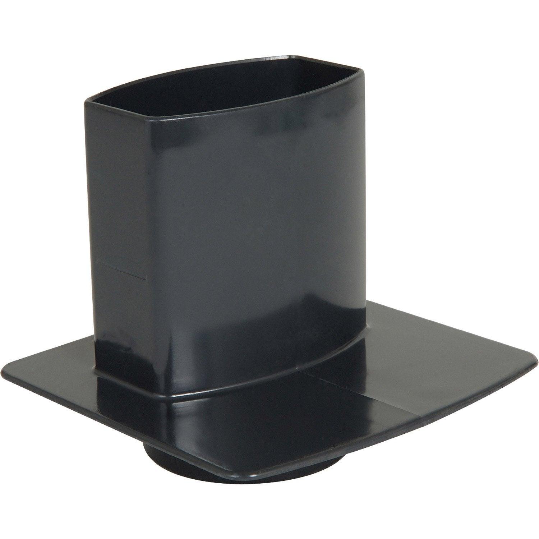 pied de chute pour goutti re ardoise pvc x mm leroy merlin. Black Bedroom Furniture Sets. Home Design Ideas