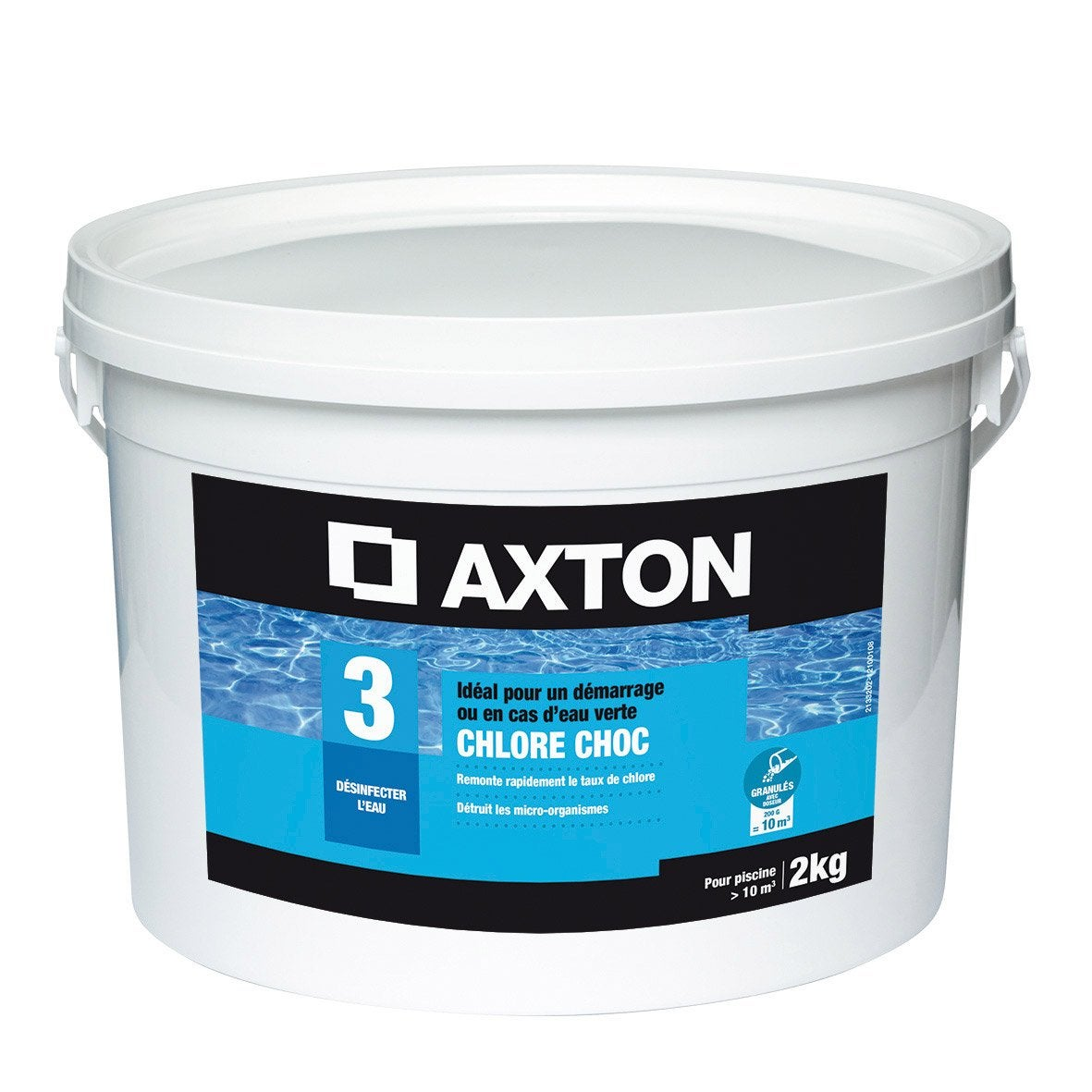 Chlore choc piscine axton granul 2 kg leroy merlin for Chlore choc piscine