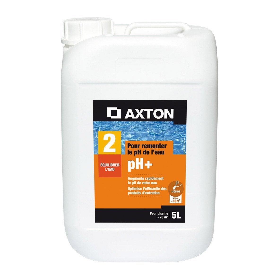 rehausseur de ph piscine axton liquide 5 l 5 kg leroy