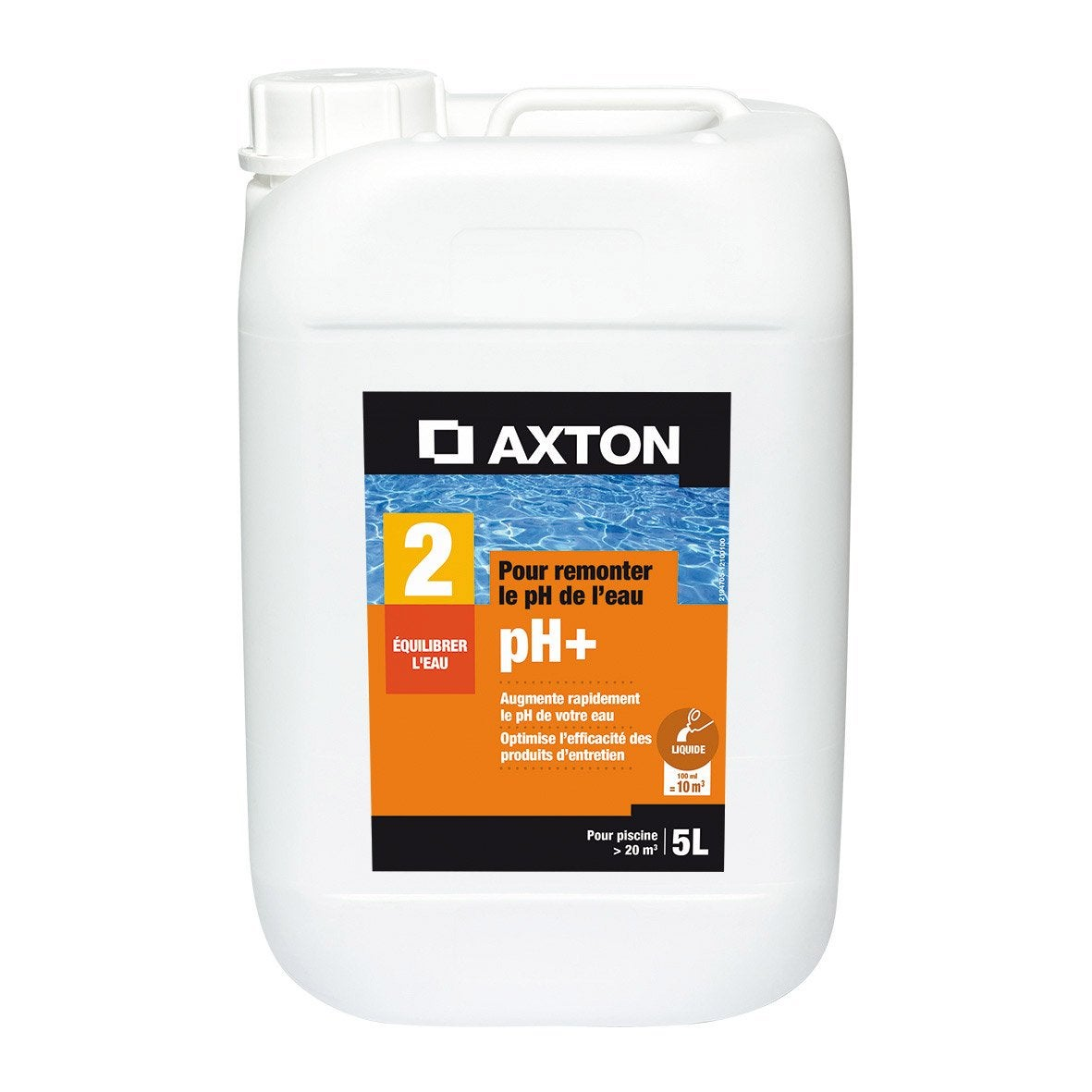 Rehausseur de ph piscine axton liquide 5 l leroy merlin for Algues piscine ph