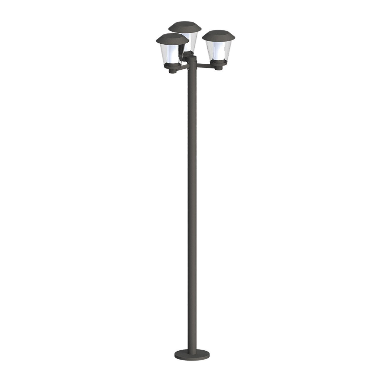Lampadaire ext rieur paterno led int gr e 840 lm noir for Led exterieur leroy merlin
