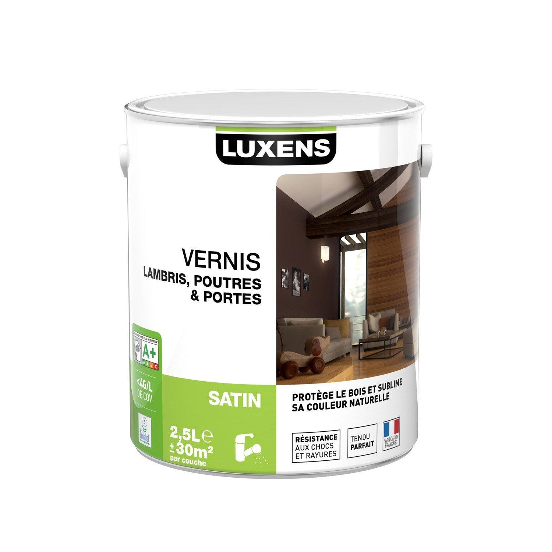 vernis poutre et lambris luxens satin ch ne clair 2 5l leroy merlin. Black Bedroom Furniture Sets. Home Design Ideas