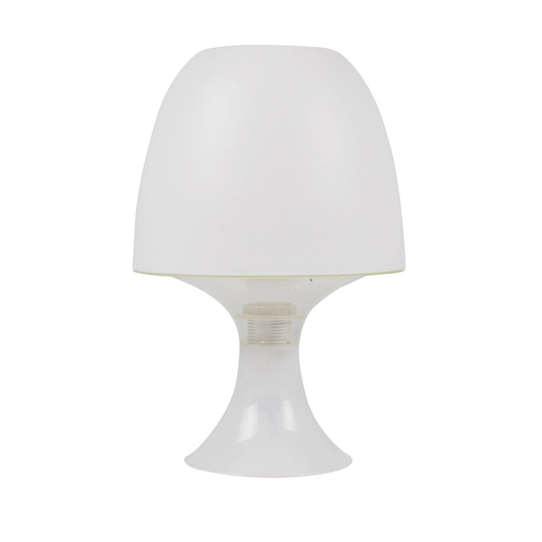 lampe managua verre blanc 25 w leroy merlin. Black Bedroom Furniture Sets. Home Design Ideas
