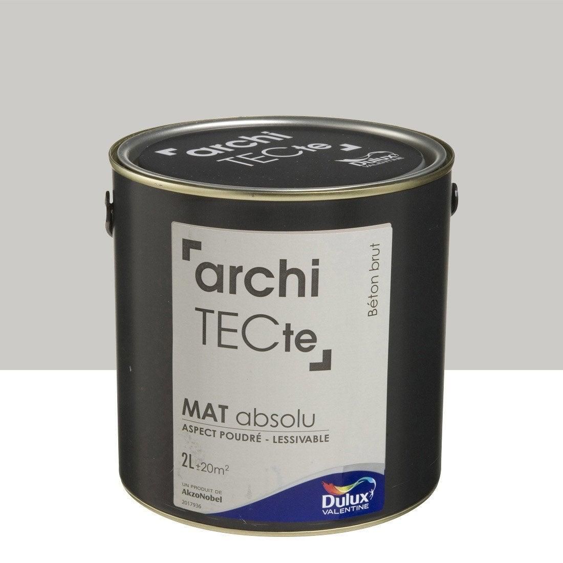 Peinture gris b ton brut dulux valentine architecte 2 l - Peinture beton brut ...