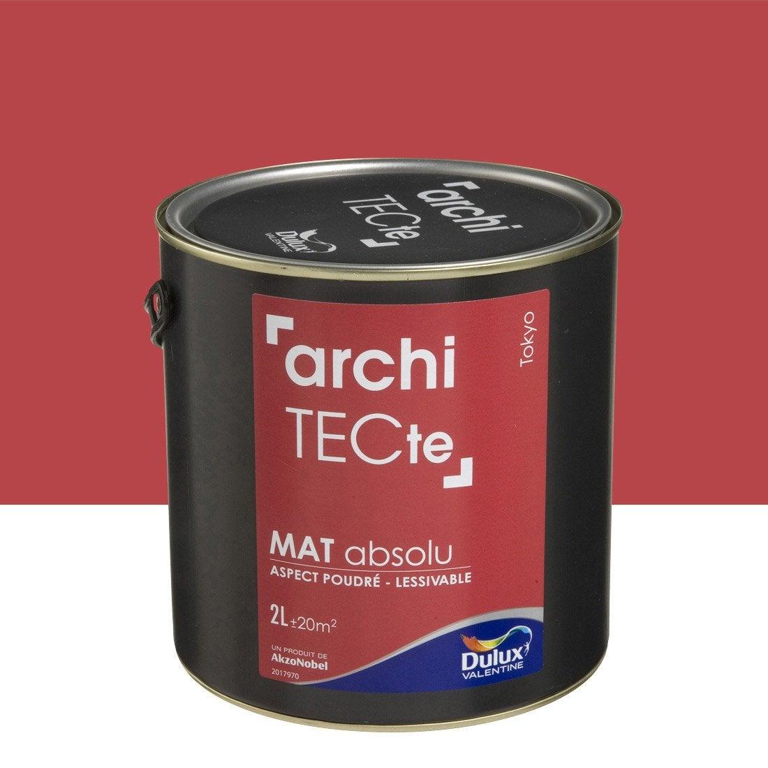 peinture rouge tokyo dulux valentine architecte 2 l leroy merlin. Black Bedroom Furniture Sets. Home Design Ideas